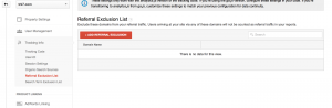 Google Analytics referral exclusion